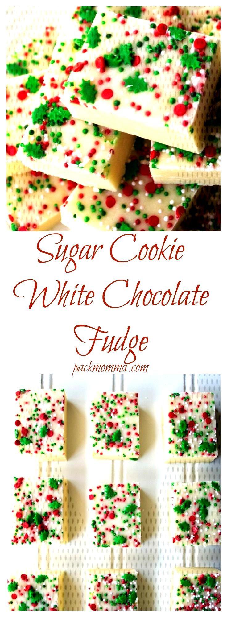 Sugar Cookie White Chocolate Fudge -