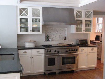 Gray Walls In Kitchen gray walls black counters white cabinets <3 wood floors | around