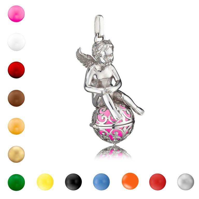 Déesse bénisse enfant argent Cages pendentif pour les femmes maman bébé chaîne colliers ange sons musicaux grossesse boule Bola 008(China (Mainland))