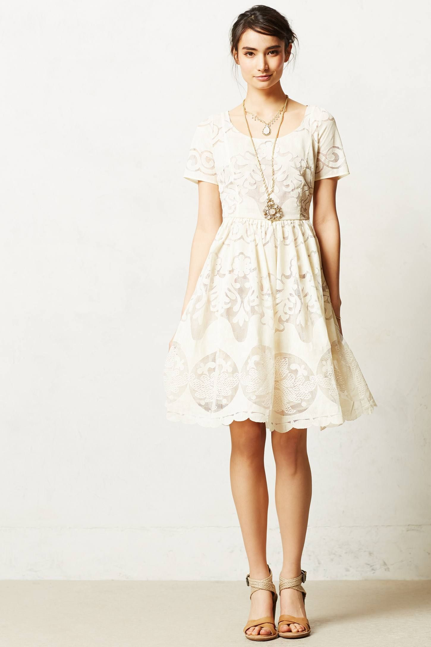 Love this beautiful, whimsical dress Ivoire Dress - anthropologie ...