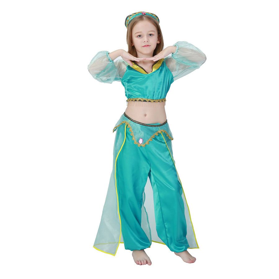 Princess Aladdin Magic Lamp Jasmine Adult//Kids Party Women Cosplay Costume Dress
