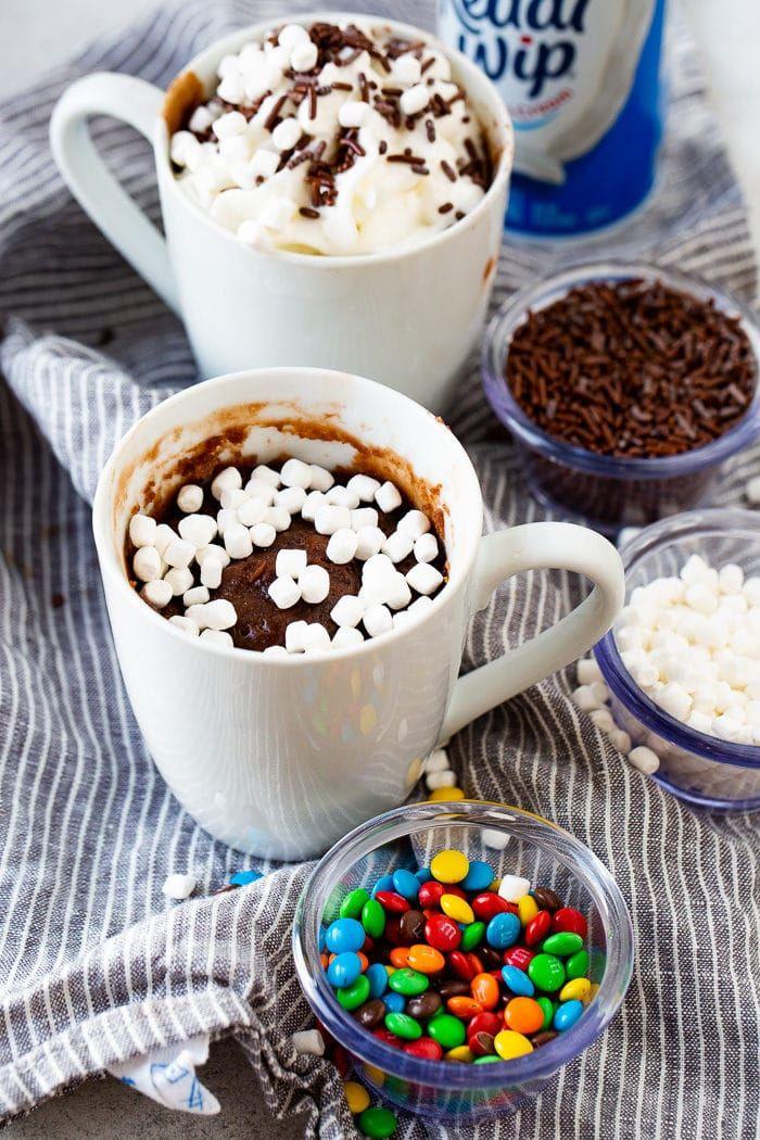 Hot Cocoa Mug Brownie for One | Recipe | Brownie in a mug ...
