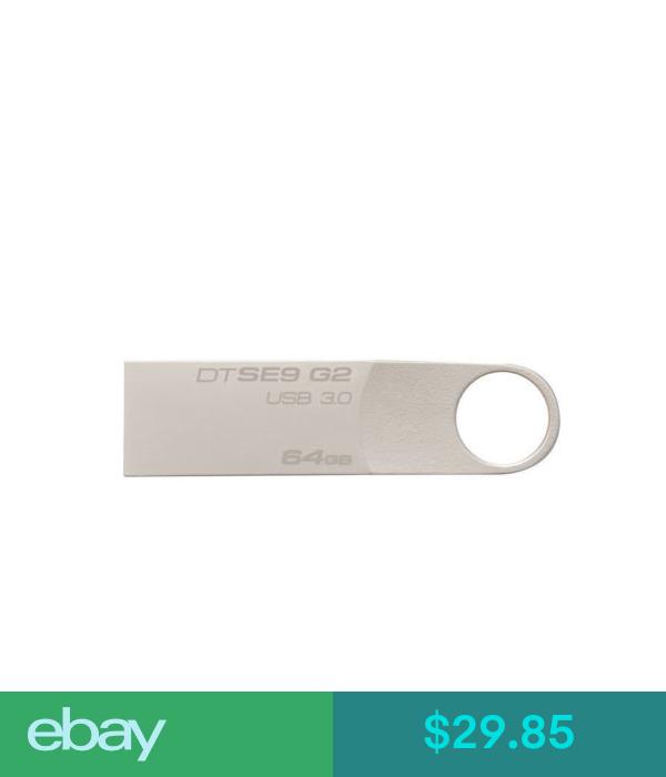 Kingston 64GB USB 3.0 Metal Key Chain Flash Memory Drive 64 GB DTSE9G2//64GB