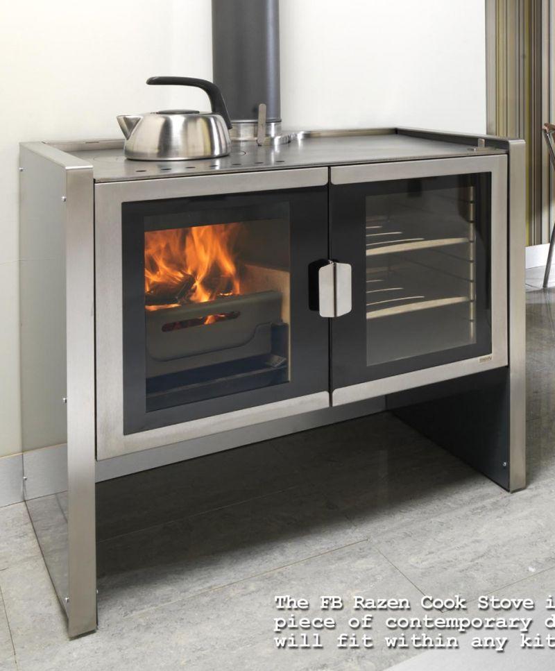 Kitchen Cook Stoves Butcher Block Modern Wood Burning Ovens