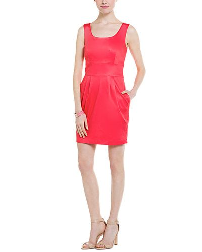 Pippa Coral Sateen Sleeveless Dress