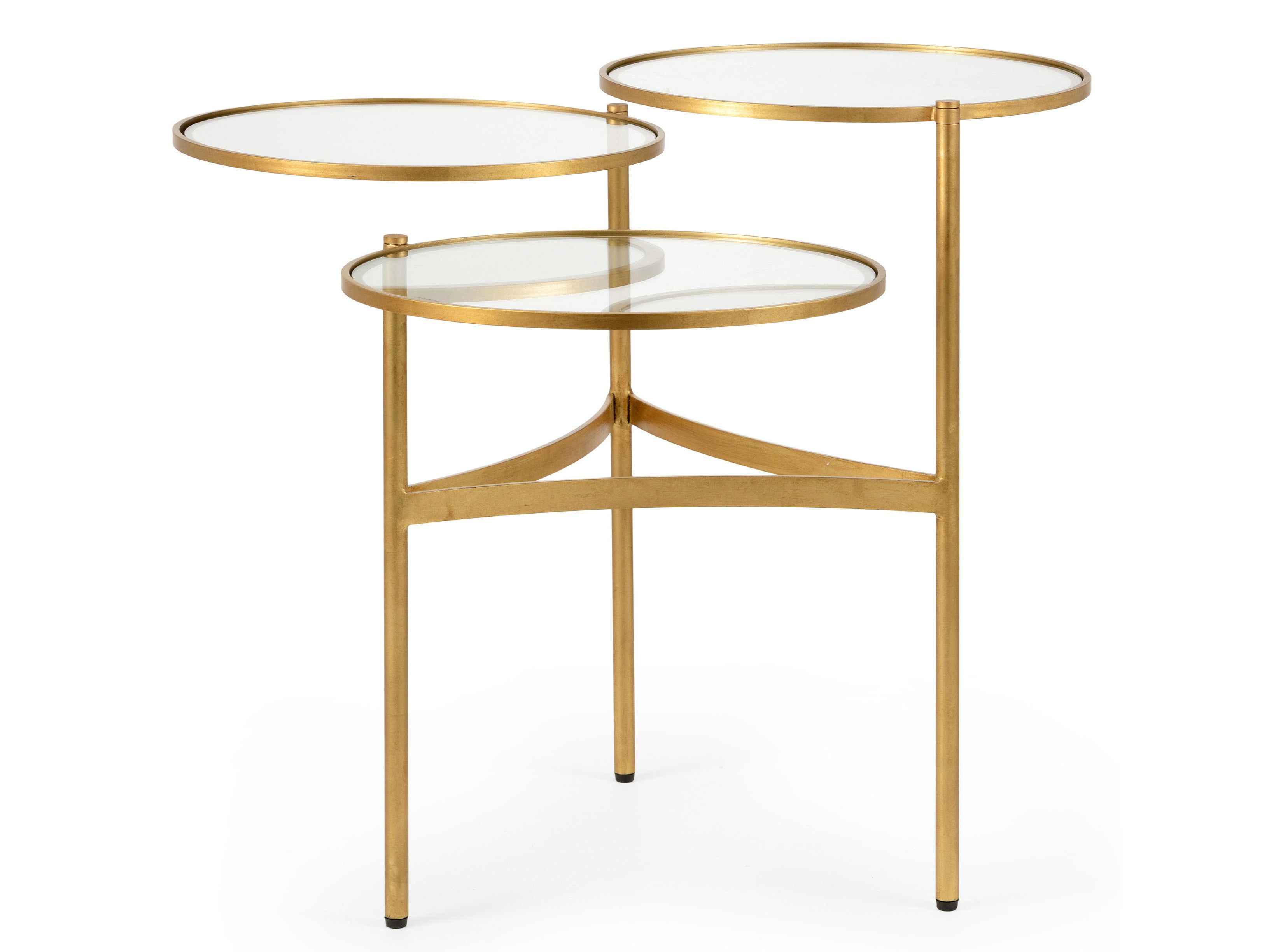 Hollande 3 Tier Coffee Table Gold Clear 3 Tier Coffee Table Coffee Table Gold Coffee Table