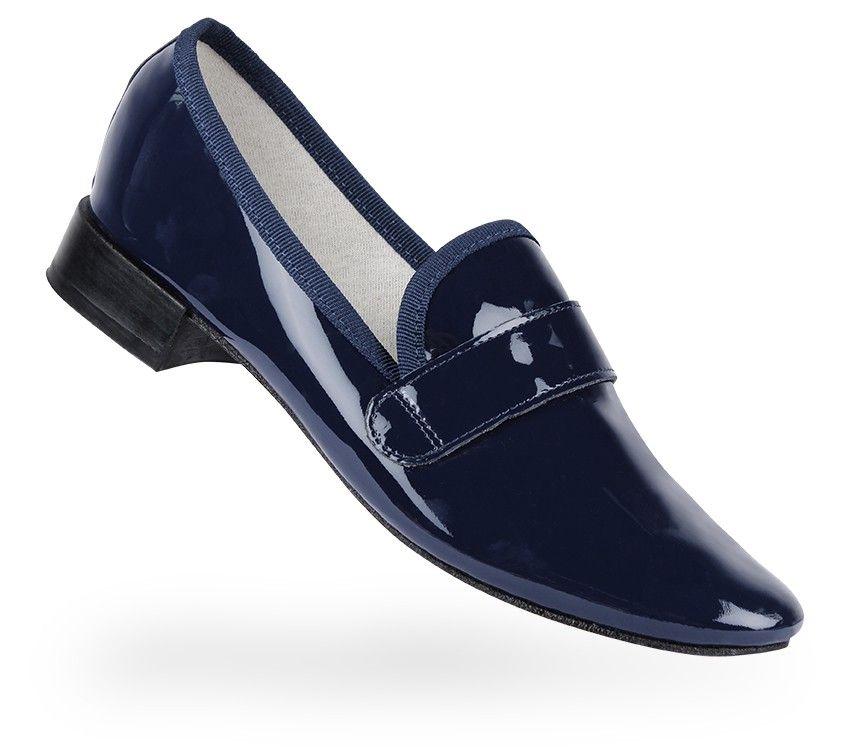 6dd2f7e90c19 Repetto Loafer Michael Classic blue Patent leather