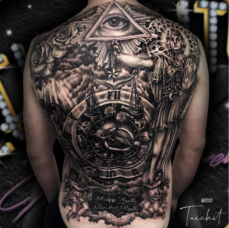 Tattoo By Taechit In 2020 Black And Grey Tattoos Best Tattoo Shops Tattoos