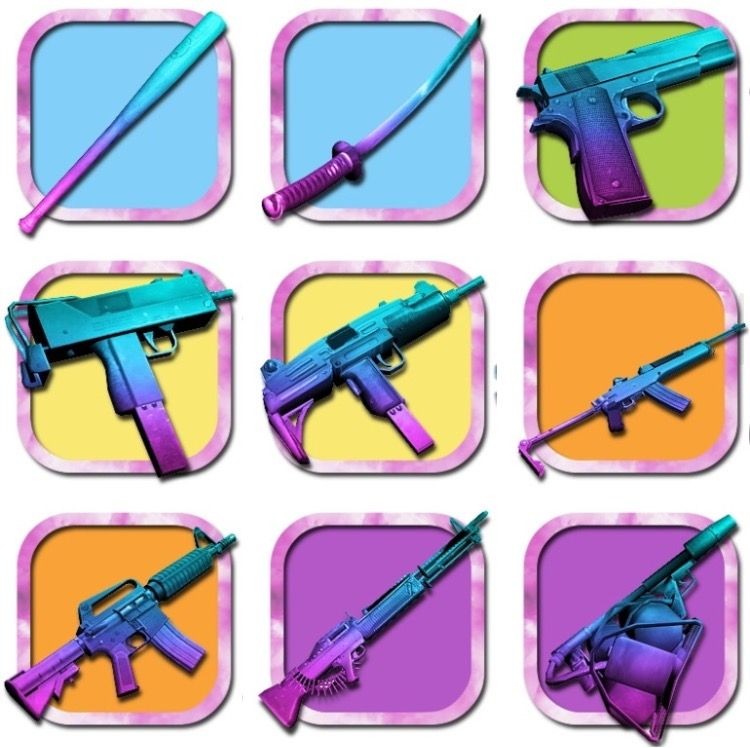 Weapons from GTA Vice City