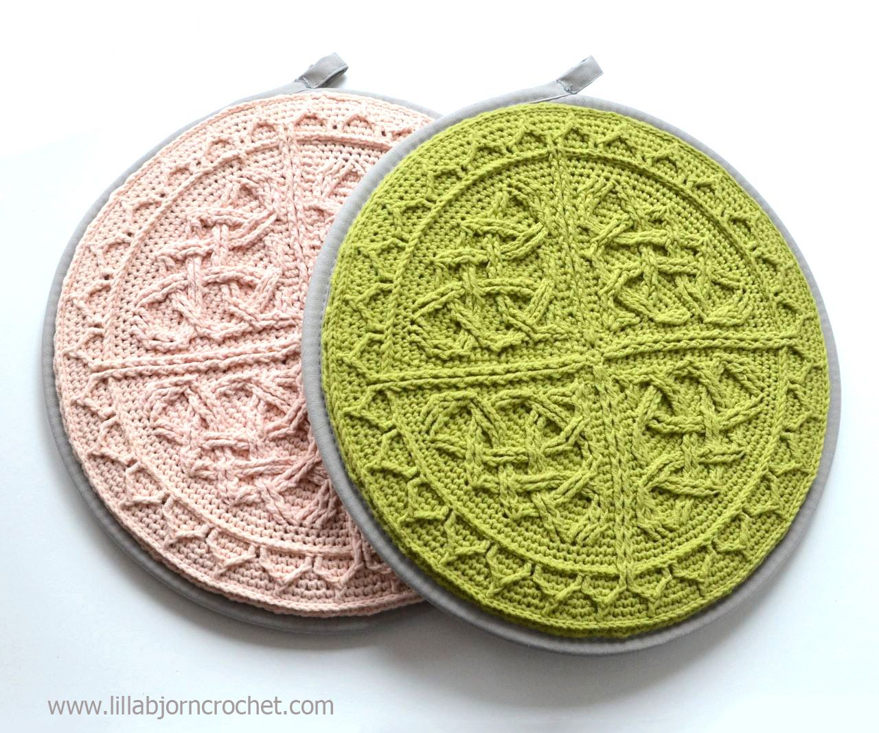 Celtic Cabled Mandala pattern can be used to make a round purse ...