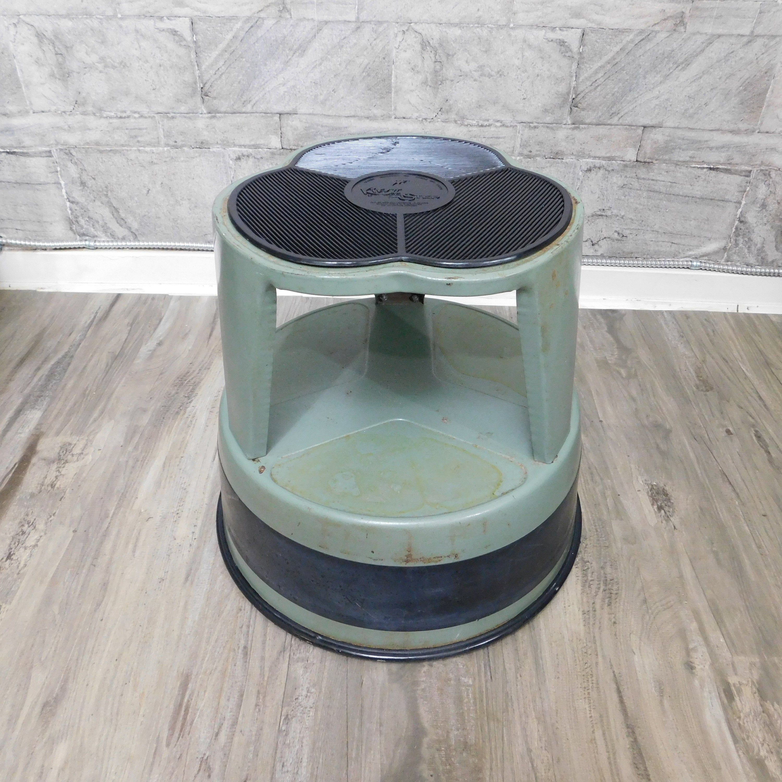 Kik Step Rolling Step Stool With Wheels Industrial Plant Stand 70s