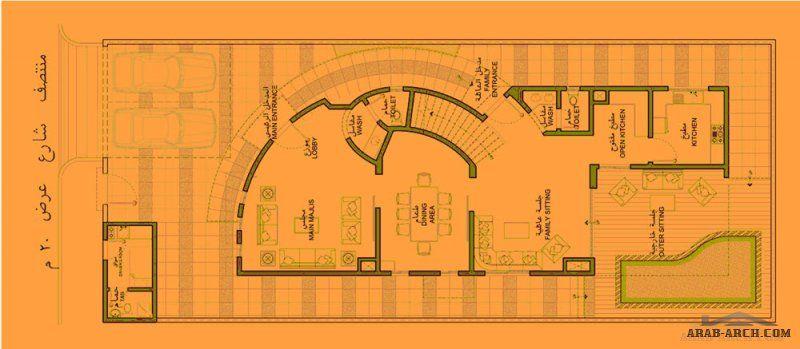 منازل جدة تصاميم الفيلا مساحة الارض 375 M 2 مساحة مسطح البناء 429 M 2 Villa Design Design Floor Plans