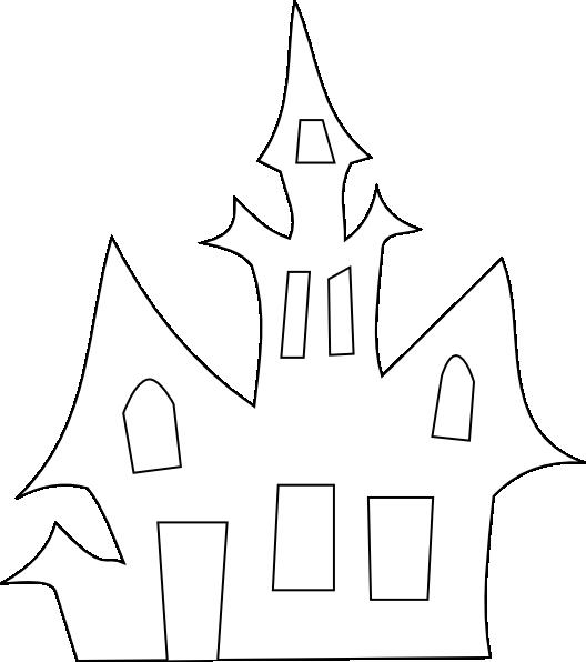 Scary House Silhouette Clip Art At Clker Com Vector Clip Art Cose Di Halloween Disegni Di Halloween E Fai Da Te Per Halloween