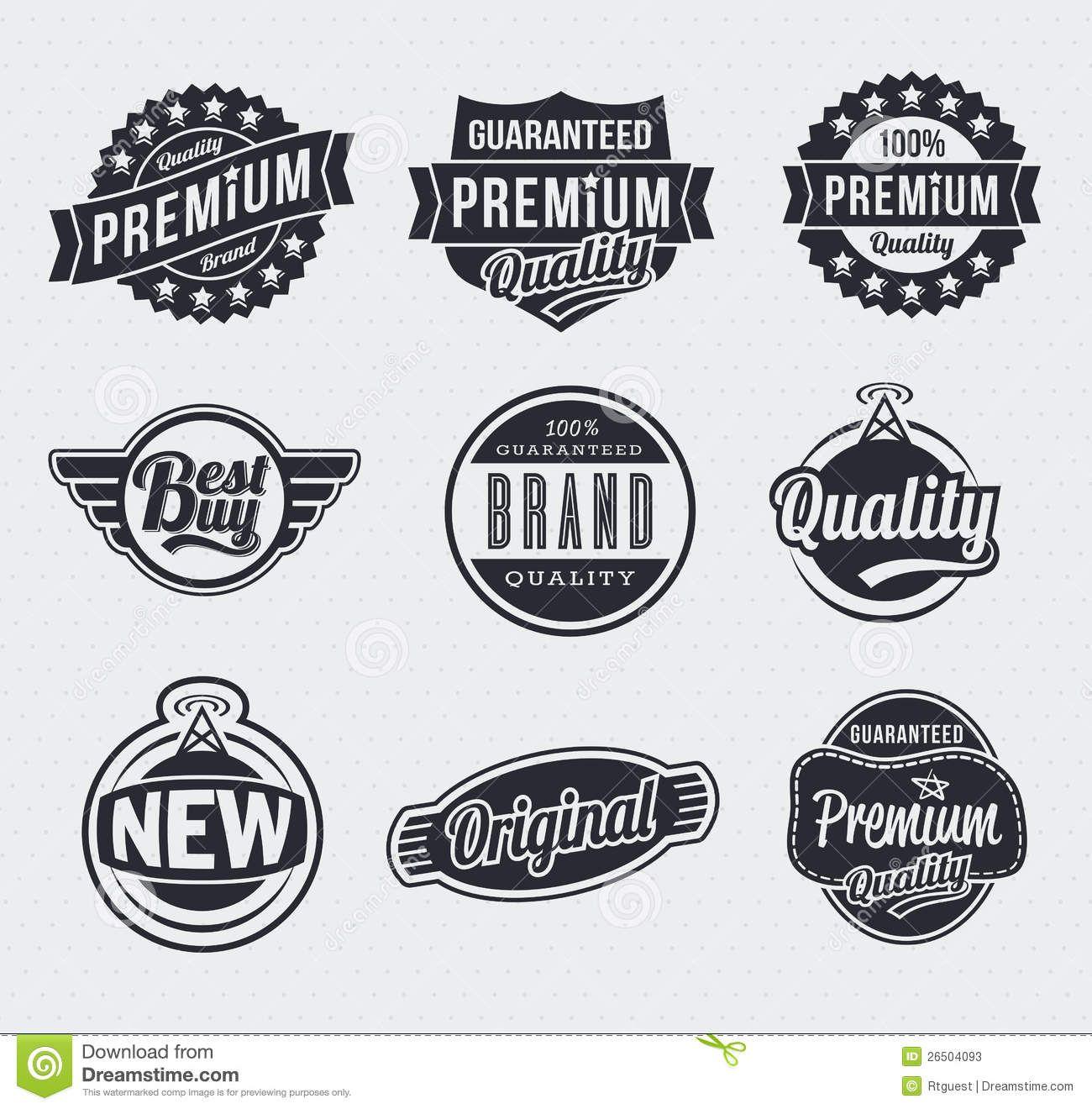 Retro Vintage Vector Labels Stock Vector Illustration Of Design Best 26504093 Vintage Logo Design Vintage Labels Retro