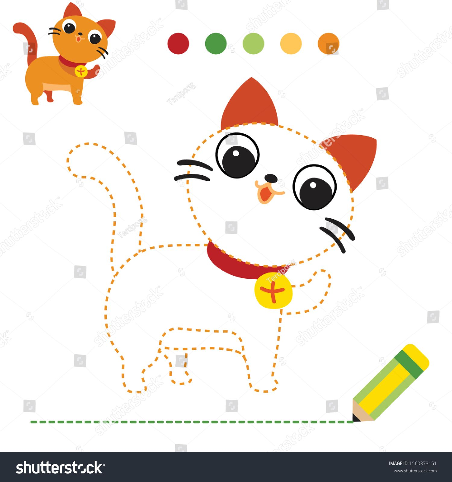 Cat Worksheet Vector Design Dash Game