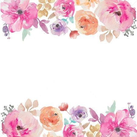 Pin By Clara Ramirez On Frames Floral Watercolor Background Flower Border Png Free Watercolor Flowers