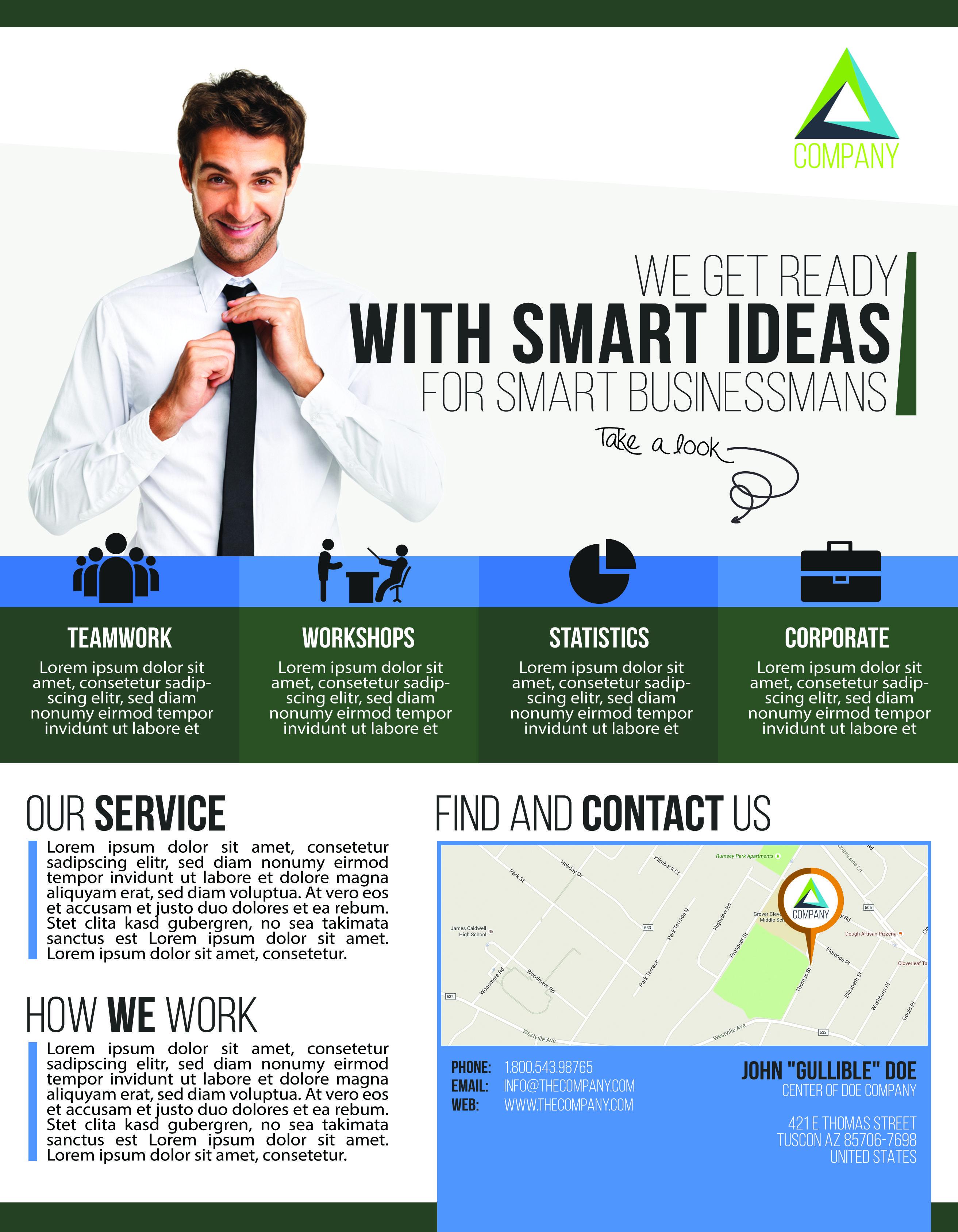 Der smarte Flyer für dein Business. Warum sollte ein Business Flyer langweilig und eintönig sein? Wenn man so viel daraus heraus holen kann! Designed by ESSPEE Design Studio -  www.esspee.de