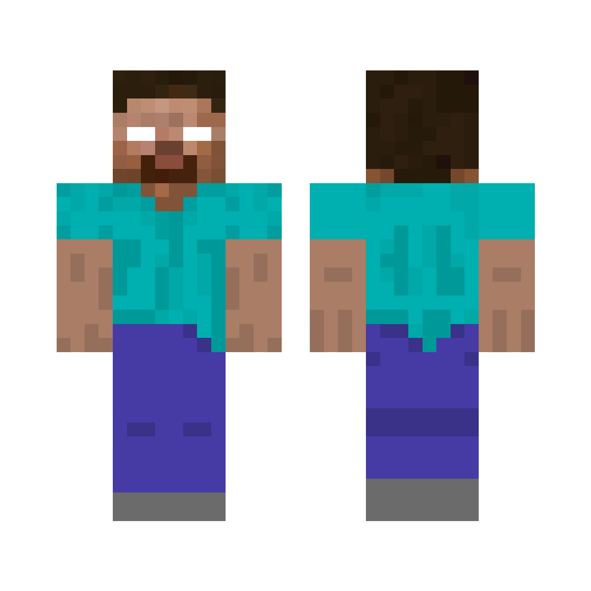 Image result for minecraft herobrine skin  Minecraft, Gaming