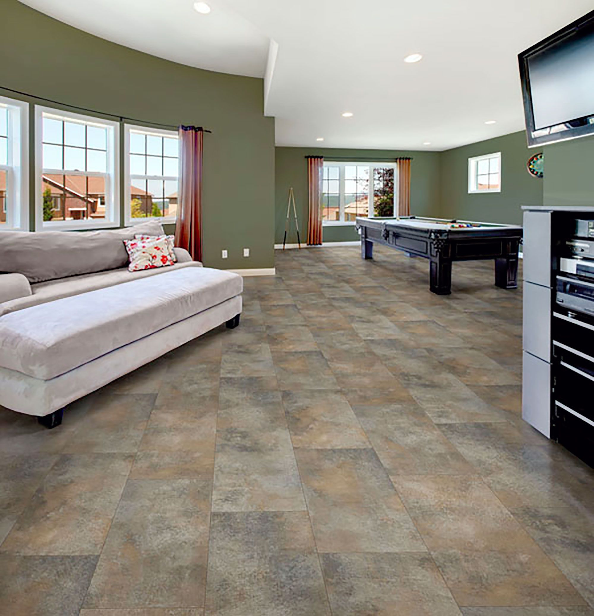 Airstep evolution casa nova cabana gray congoleum for Casa floor