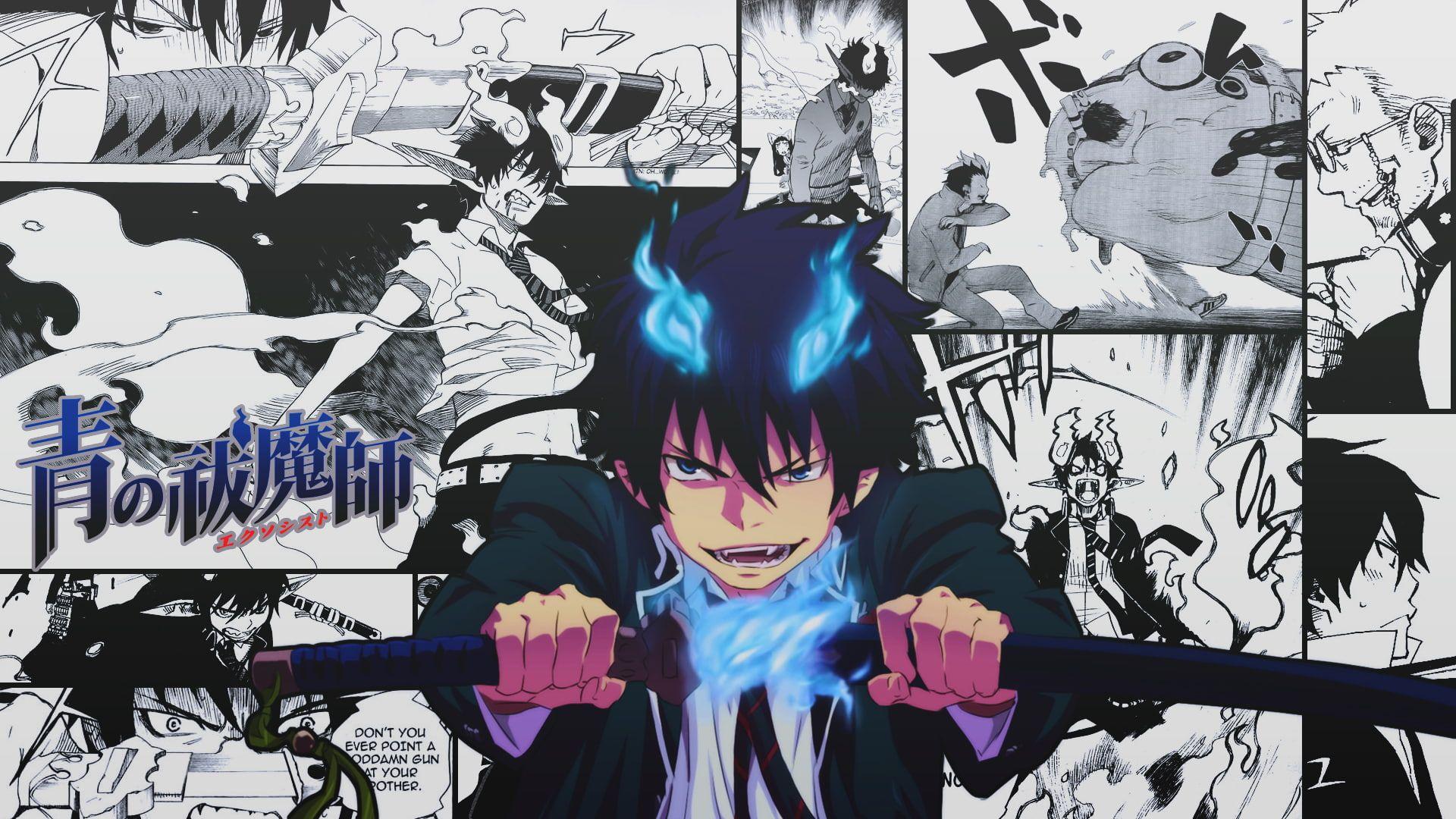 Blue Exorcist Okumura Rin Manga 1080p Wallpaper Hdwallpaper Desktop Blue Exorcist Blue Exorcist Anime Blue Exorcist Rin