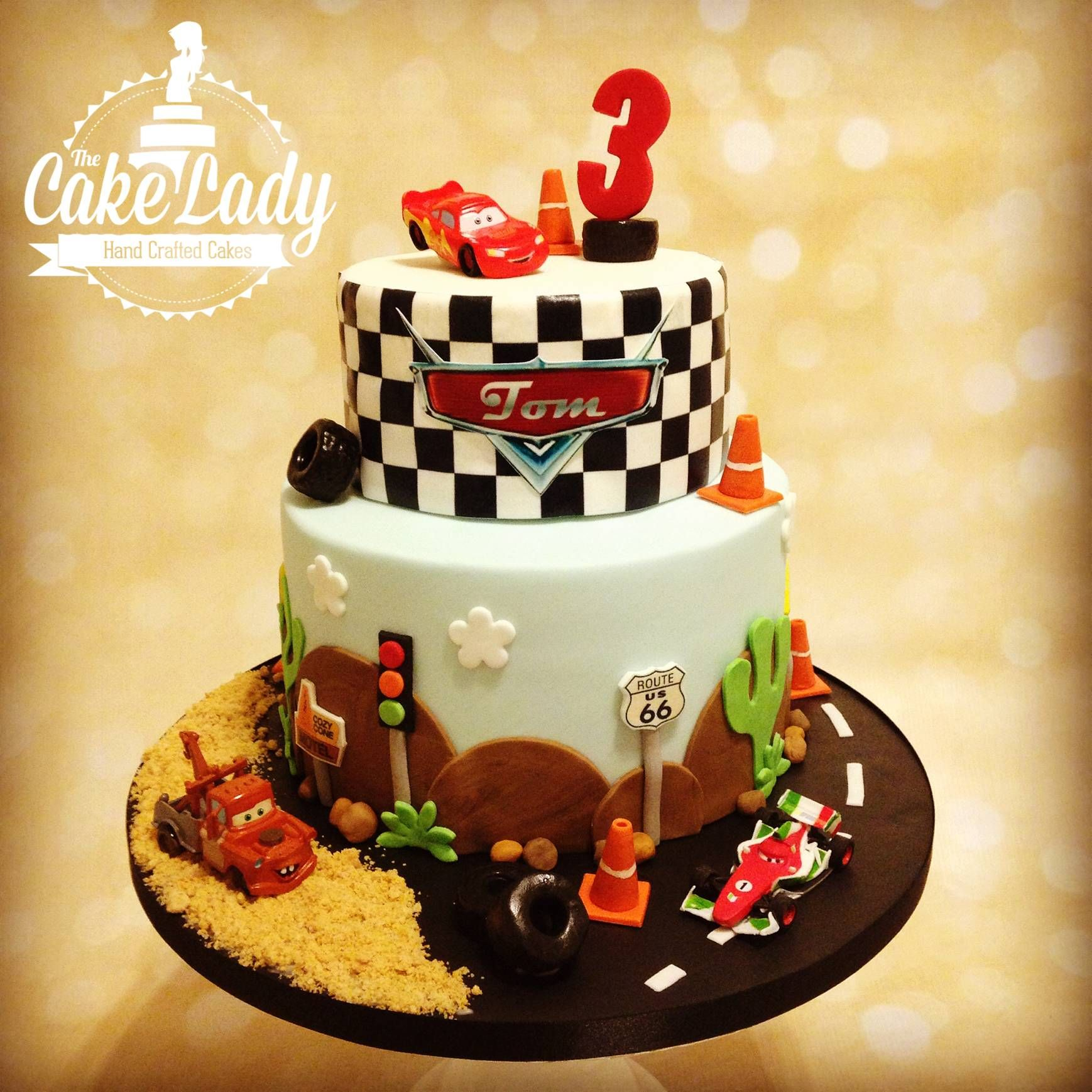 Disney Cars 3rd Birthday Cake