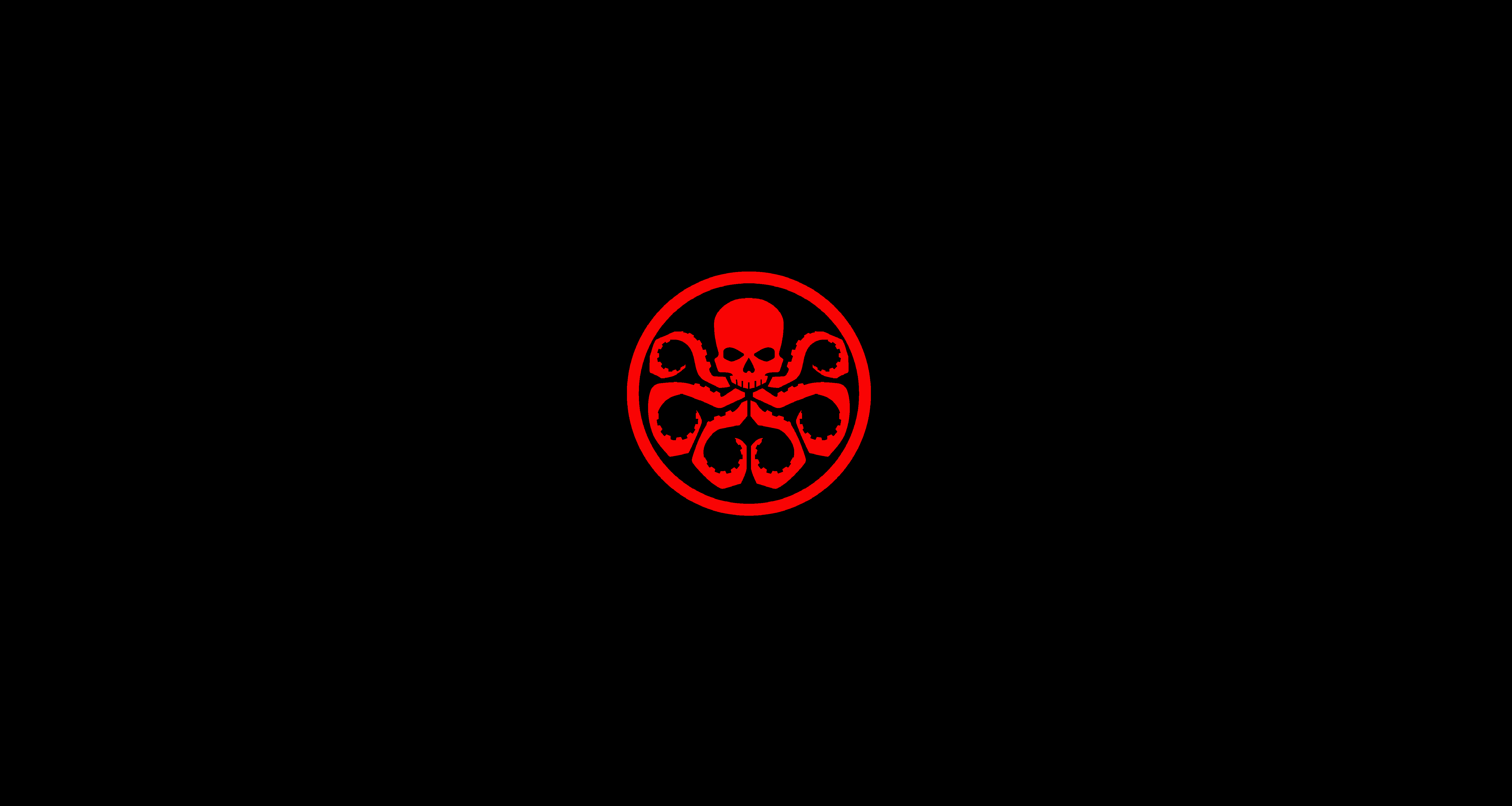 Minimalistic HYDRA Marvel Wallpaper I Made After Not Finding One Liked