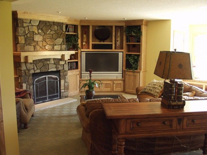 Room Stone Built In Entertainment Centers