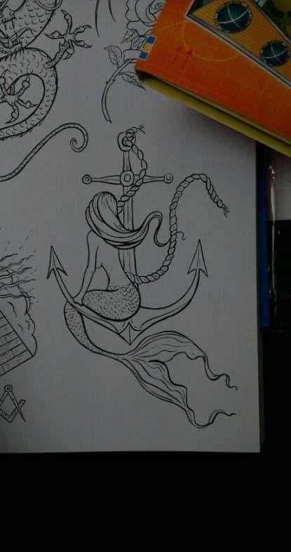 60+ Ideas tattoo mermaid anchor ocean for 2019