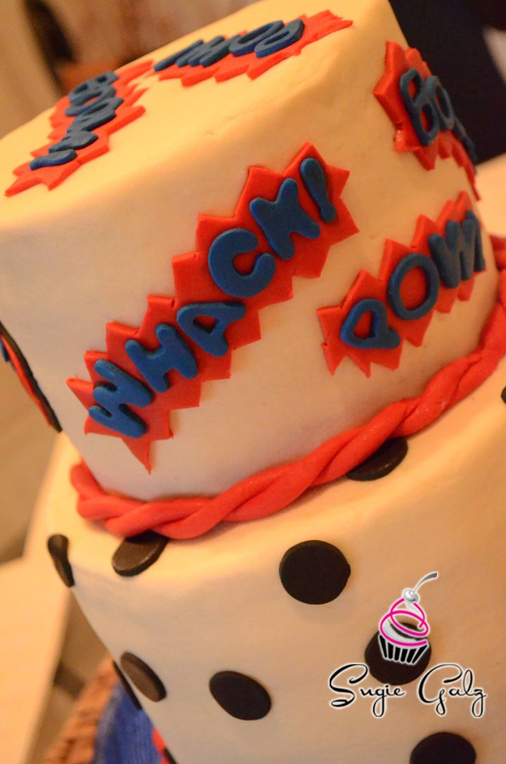 Whack Pow On This Fun Comic Inspired Birthday Cake In Austin Texas