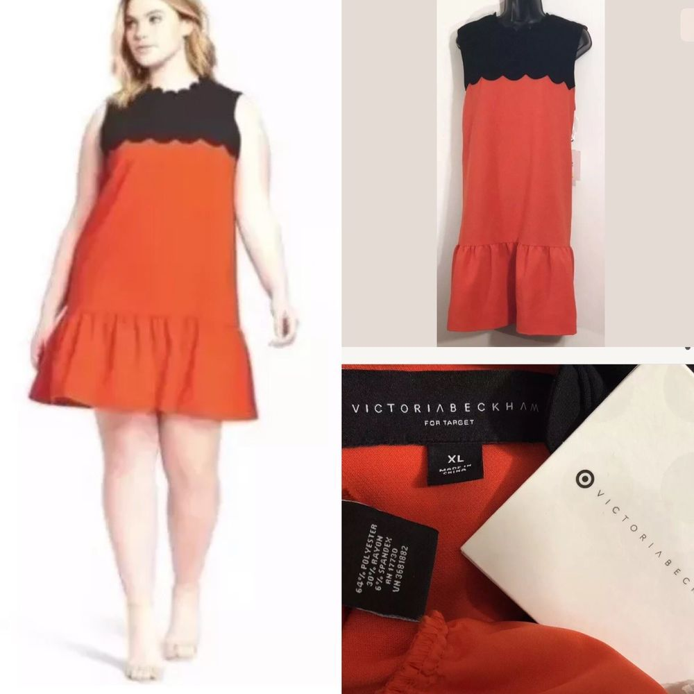 Victoria Beckham Target Women S Dress Orange Black Scallop Drop Waist Size Xl Ebay Target Womens Dresses Dresses Victoria Beckham Target [ 1000 x 1000 Pixel ]