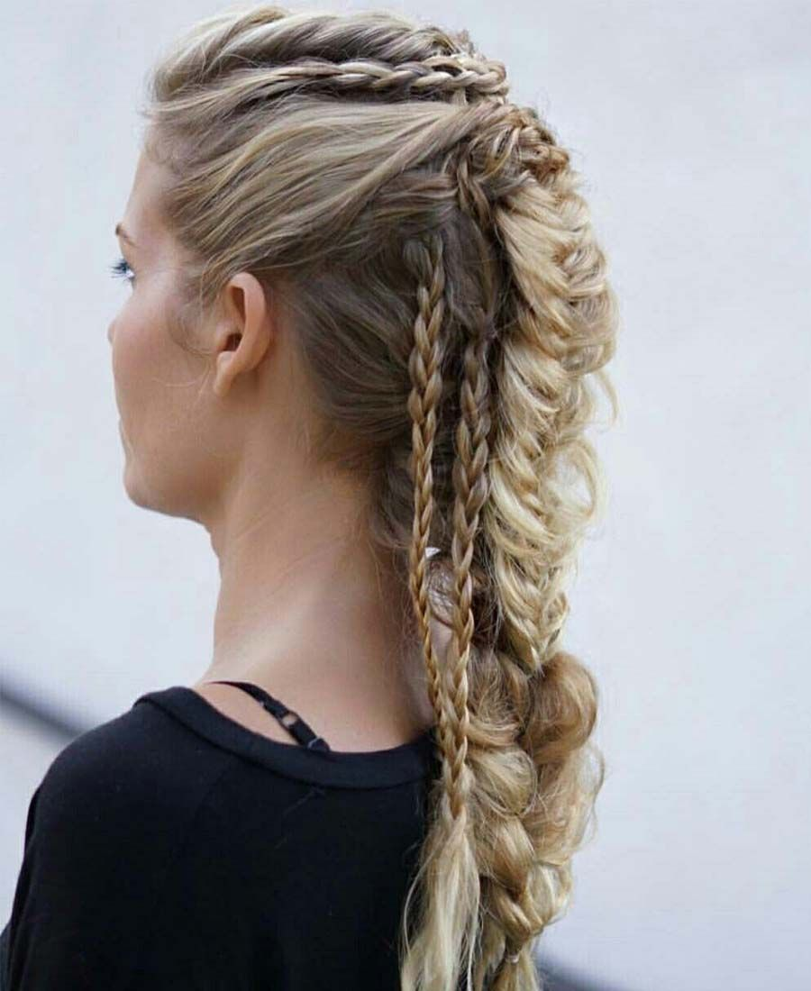 43 Awesome Warrior Braid Hairstyles 2019 Cleverstyling Tribal Hair Viking Hair Braided Hairstyles