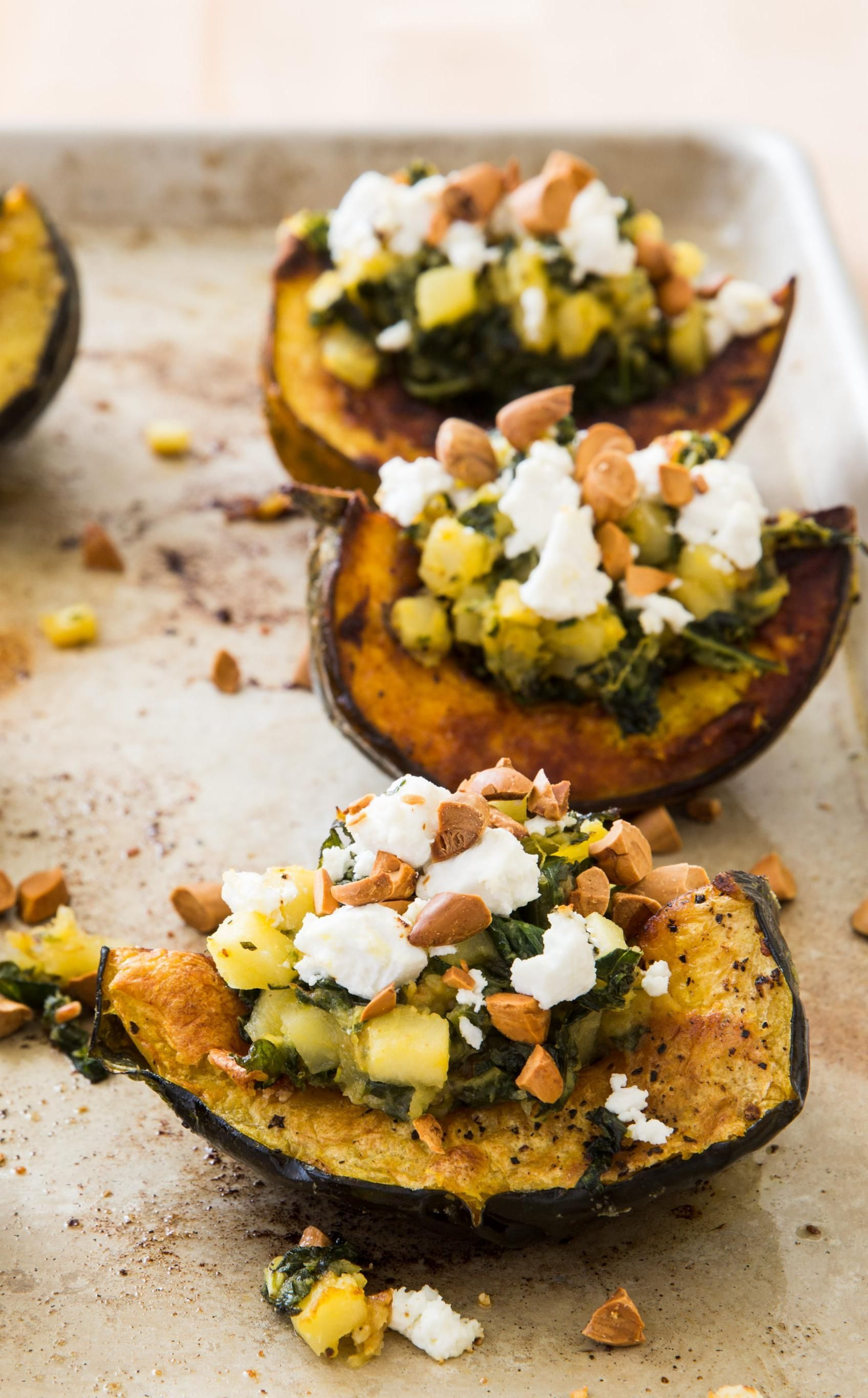 Stuffed Acorn Squash With Pear And Hazelnut Our Goal Was To Dress