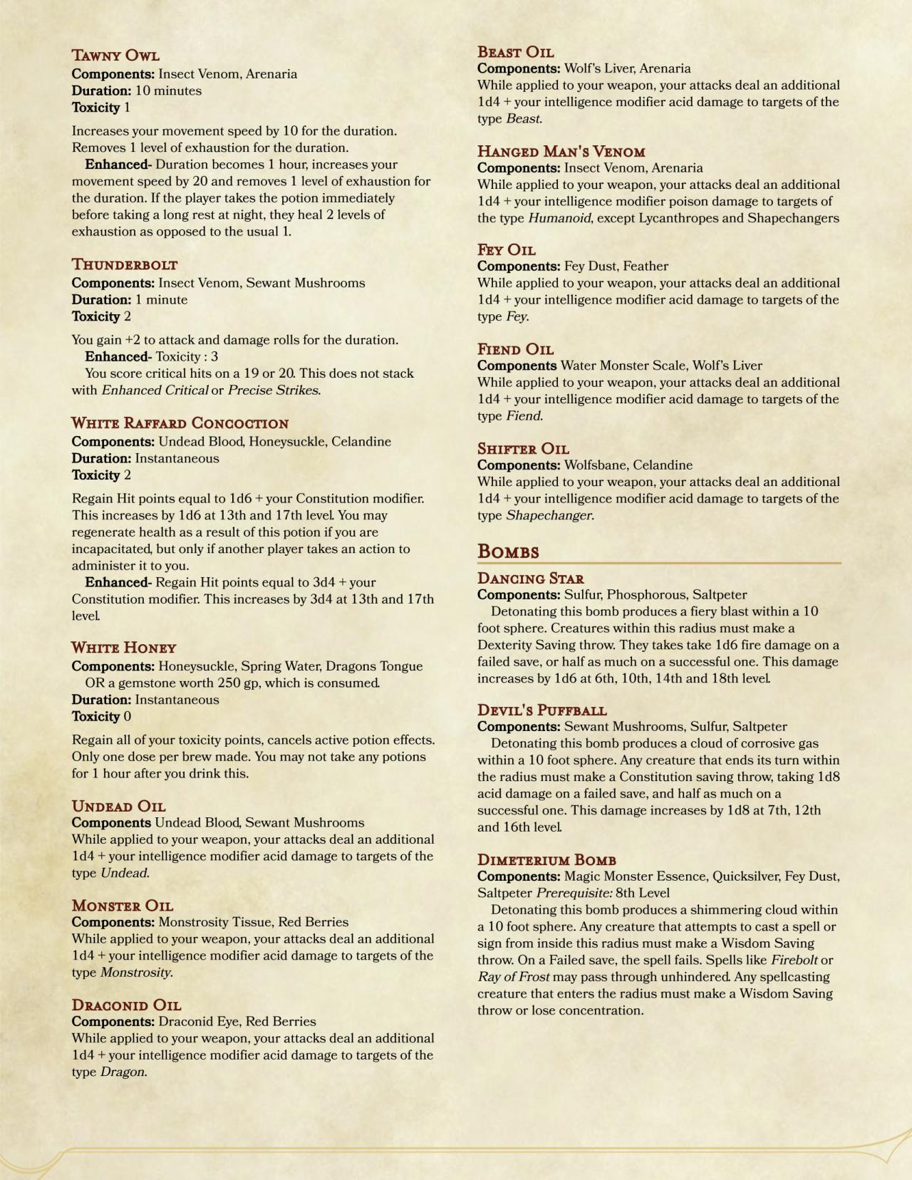 DnD 5e Homebrew — Witcher class by Mazzetti_ | Dnd | Dnd 5e