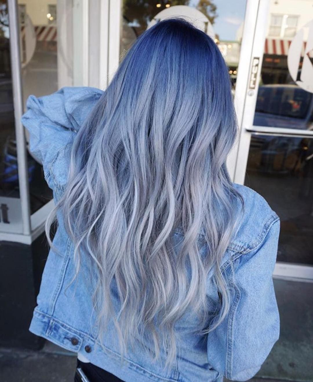 Photo of Check Out 2018's Coolest New Trend—Denim Dye Hair