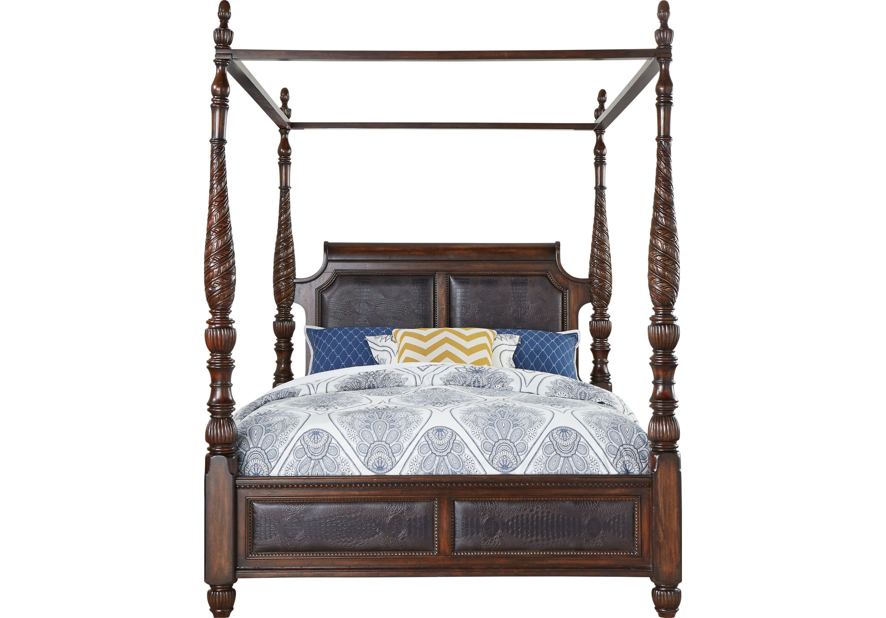 Picture Of Cindy Crawford Home Trinidad 4 Pc King Canopy Bed From
