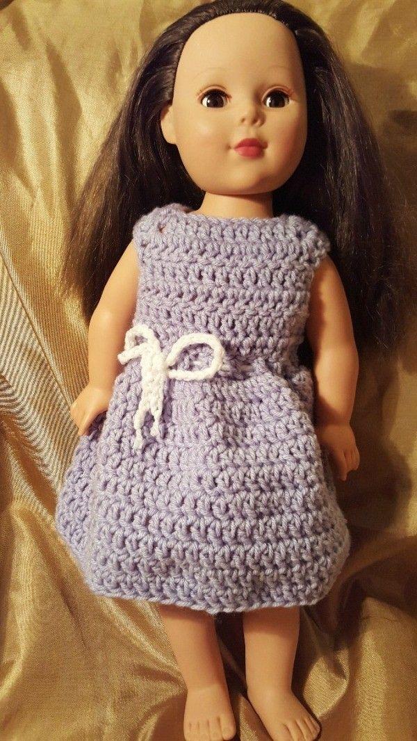 Magnífico Los Patrones De Crochet Libre Para La Ropa 18 Muñeca ...
