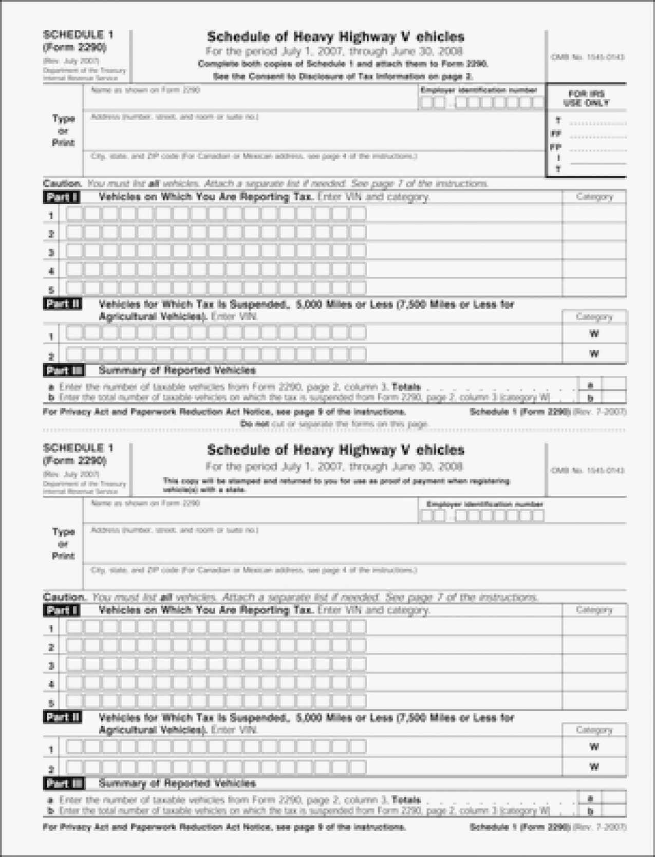irs 2290 form  Alternative Form 8 filing easy general templates c final ...