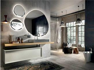 Mobili Sospesi ~ Mobile lavabo laccato sospeso con specchio regolo 324 edoné by