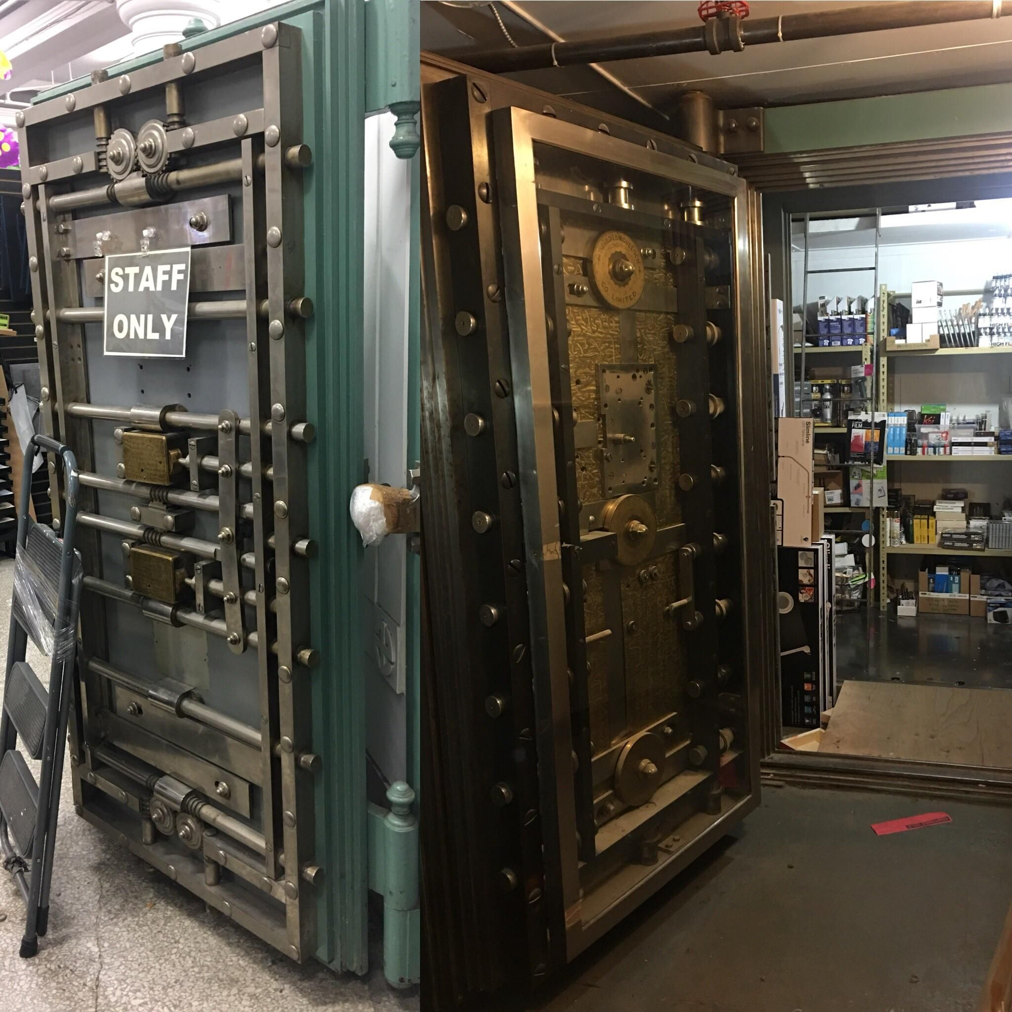 I work in a bank vault that has a bigger bank vault inside!