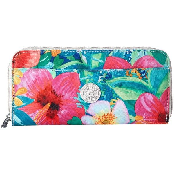 d97211a0f7c Kipling Travel Documents Holder (Tropical Garden Print) Wallet ($54) ❤ liked  on Polyvore featuring bags, clear bags, clear travel bag, floral bag,  kipling ...