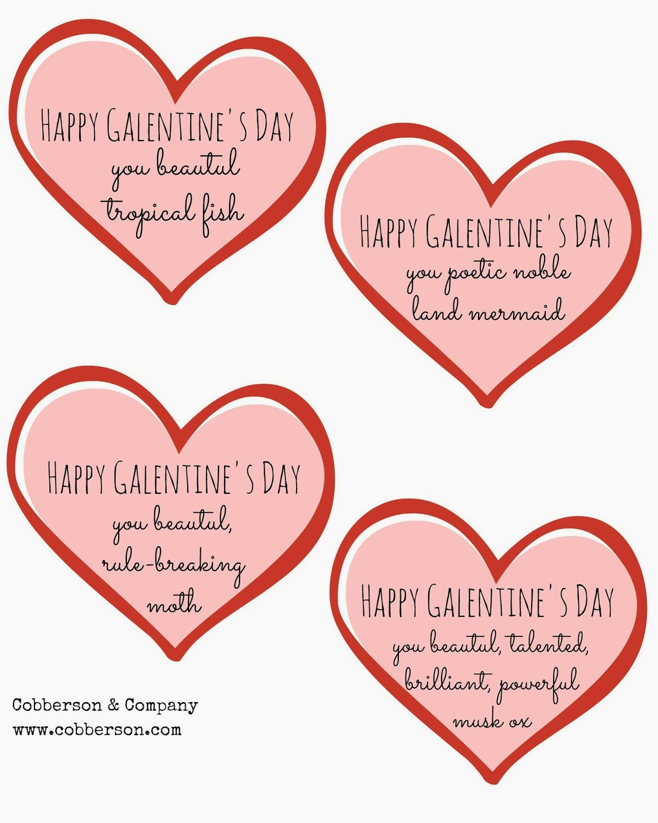 Happy Galentine's Day, you noble DIYer! + Free Printable ...