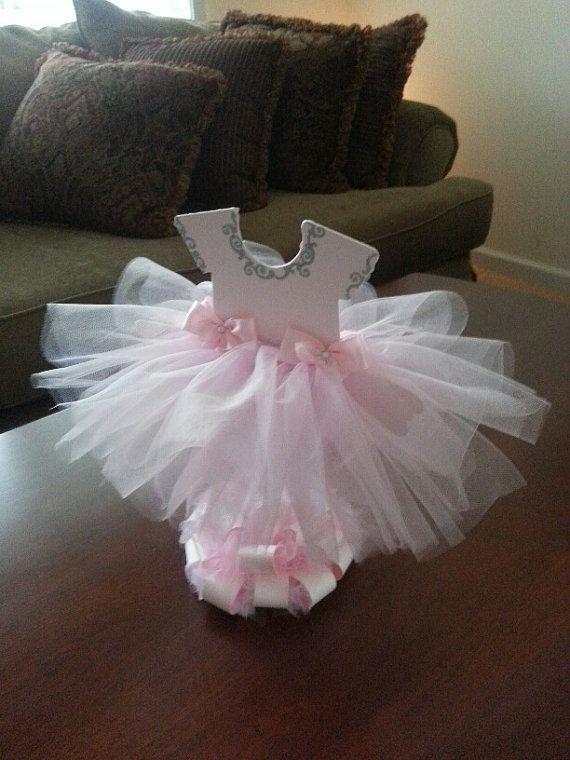 Double Sided Light Pink TuTu Dress Centerpiece (Silver) / Ballerina Baby  Shower / Ballerina Centerpiece
