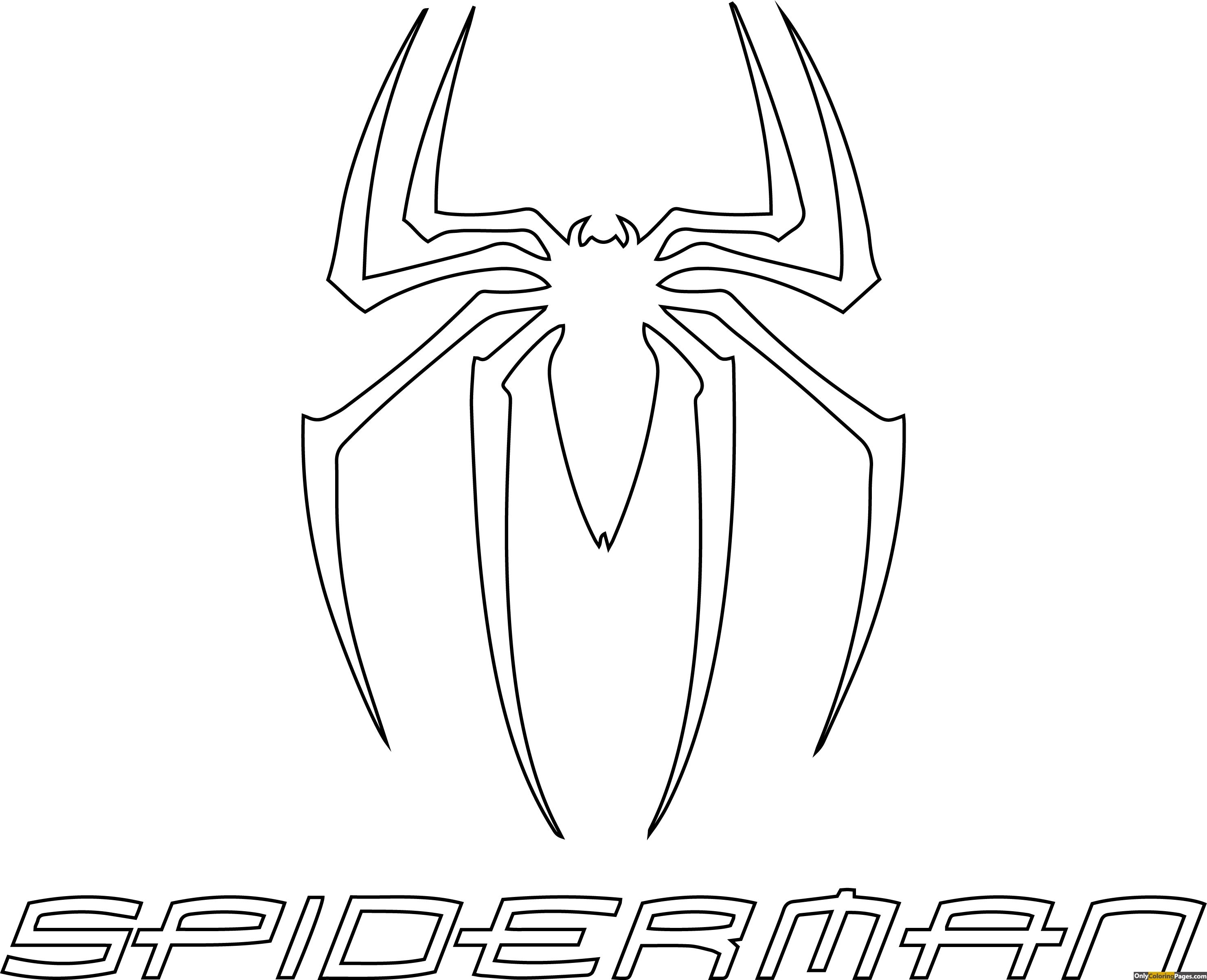Spiderman Logo Coloring Pages Spiderman Coloring Coloring Pages Superhero Coloring