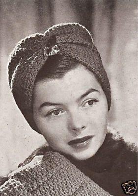 vintage-turban-hat-head-wrap-drape-crochet-pattern_140341744743.jpg (281×400)
