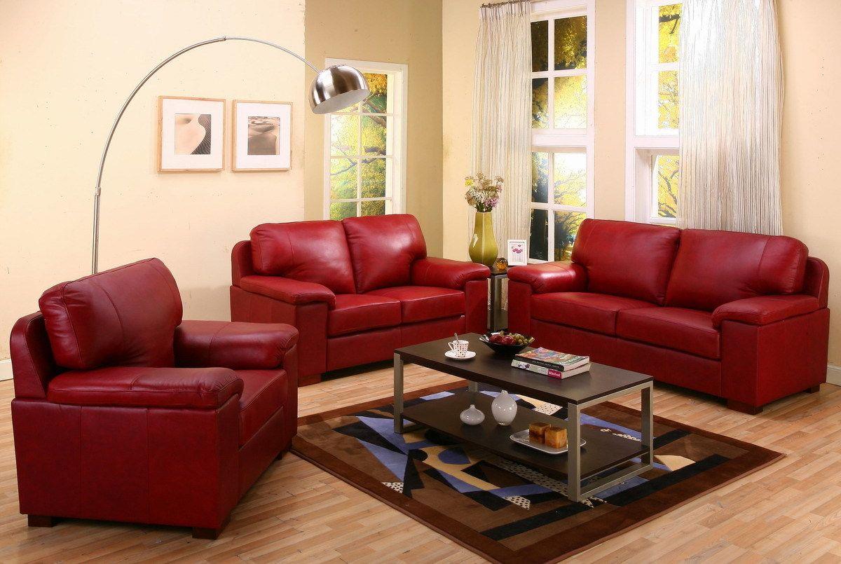 Ledermöbel In Rot Für Das Wohnzimmer! RotWohnzimmerEinrichtungDeko