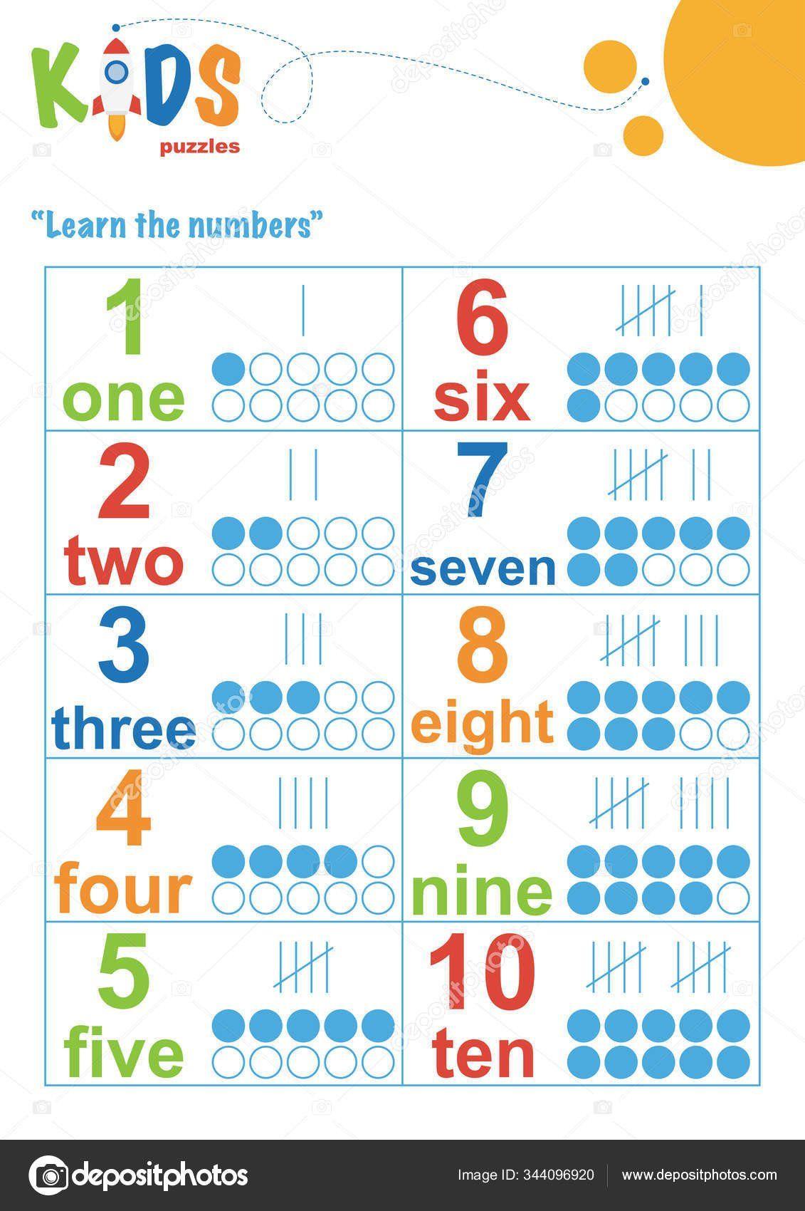 Math Worksheet For Preschool Learning Numbers Worksheet