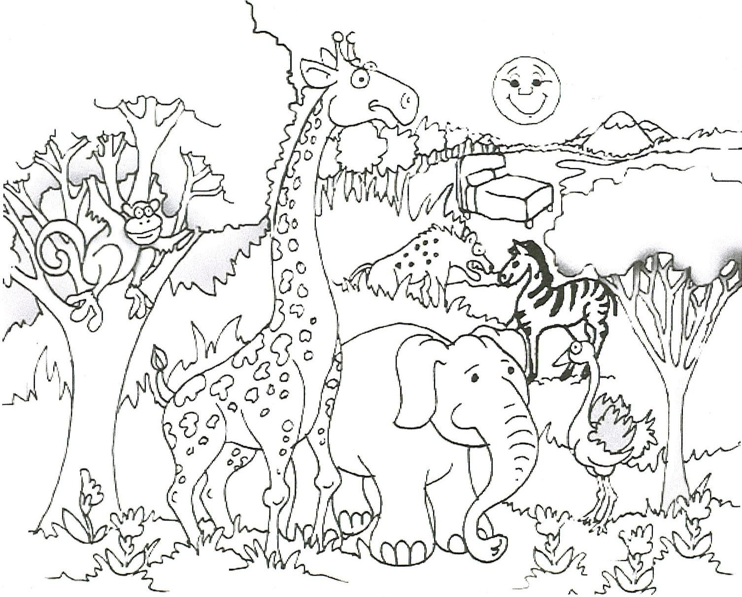 Free Printable Giraffe Coloring Pages For Kids | Giraffe