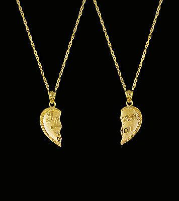 14K Solid Yellow Gold Key Pendant To My Heart Love Necklace Charm Women Men