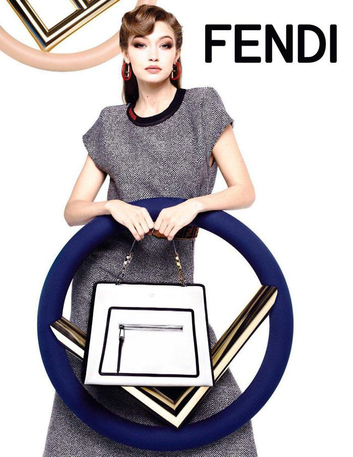 78014d9c656 Kendall Jenner and Gigi Hadid for Fendi Fall Winter 2017-18 Ad Campaign