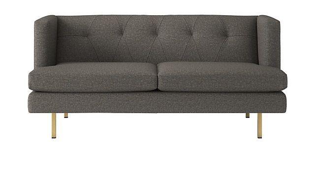 Superb Avec Grey Apartment Sofa With Brass Legs Reviews In 2019 Creativecarmelina Interior Chair Design Creativecarmelinacom